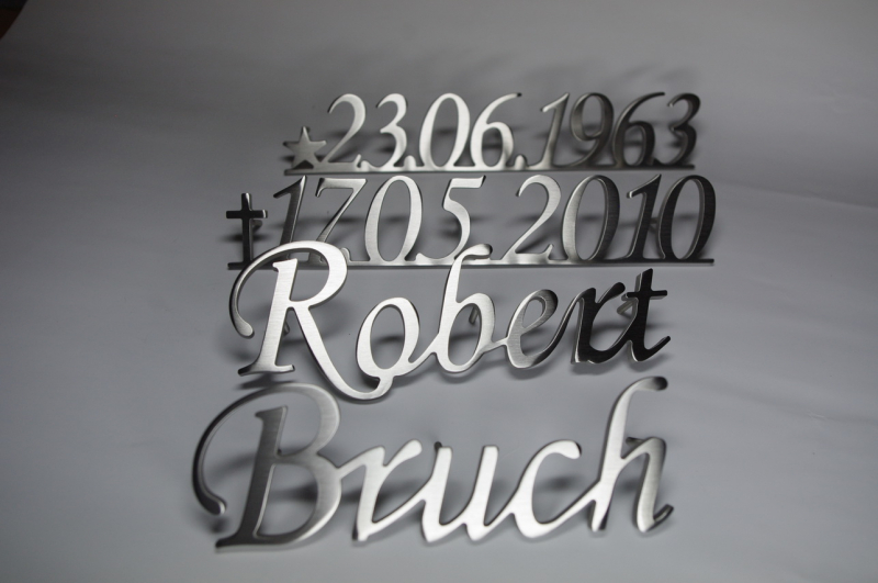 idividuelle grabschrift aus edelstahl in wunschgr fritz metall art gmbh. Black Bedroom Furniture Sets. Home Design Ideas