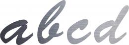Edelstahl Buchstaben a, b, c, d
