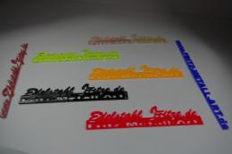 Pauschal Angebot Acrylglas Schriftzug farbig