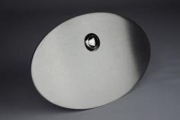 Edelstahl Klingelplatte oval