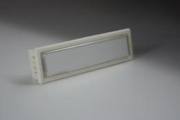 Klingeltaster Kunststoff rechteckig weiß oder dunkel anthrazit