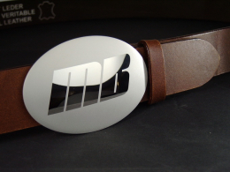 Mattiertechnik, einfaches Logo auf VA Gürtelschn. aufmattieren