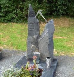 Grabschrift Edelstahl klein für Urnengrab