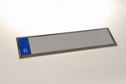 Kennzeichenhalter Edelstahl einzeilig 28 - 50 cm